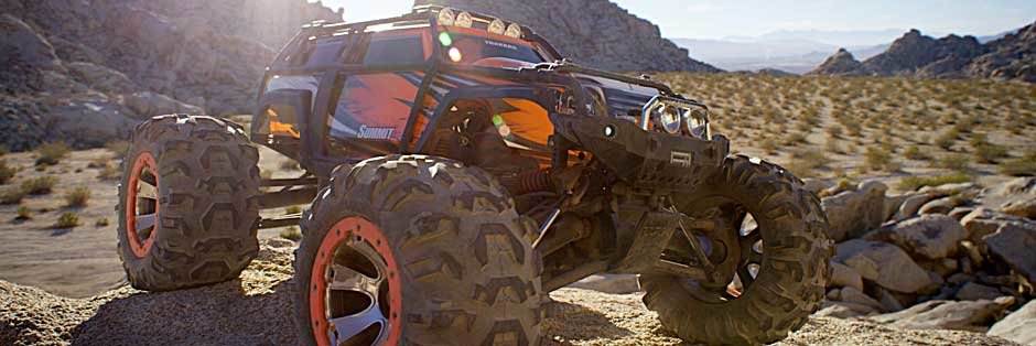 Mit dem mächtigen Summit gehts in der Wüste über Stock und Stein - Traxxas News Mit dem mächtigen Summit gehts in der Wüste über Stock und Stein