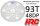 HRC74893A Hauptzahnrad - 48DP - Low Friction Gefräst Delrin - Diff Style -  93Z / HRC74893A