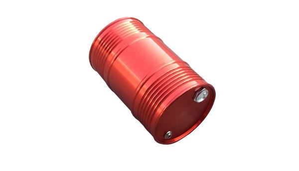Öl-Tank rot groß Aluminium