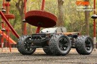 TM510001S Auto - 1/10 Monster Truck Elektrisch - 4WD - RTR - Brushless - Wasserdicht - Team Magic E5 - Silver Karosserie / TM510001S