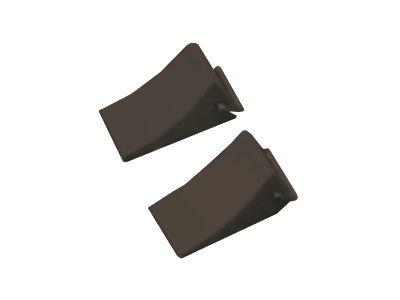 Unterlegkeil schwarz 2 Stück