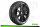 LR-T3104VB Louise RC - B-TURBO - 1-8 Buggy Tire Set - Mounted - Super Soft - Black Spoke Wheels - Hex 17mm - LR-T3104VB