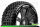 LR-T3126SB Louise RC - B-PIRATE - 1-8 Buggy Tire Set - Mounted - Soft - Black Spoke Wheels - Hex 17mm - LR-T3126SB