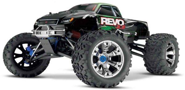 SLVR TRAXXAS Revo RTR 3.3R TQ-Wireless +12V-Lader &TSM