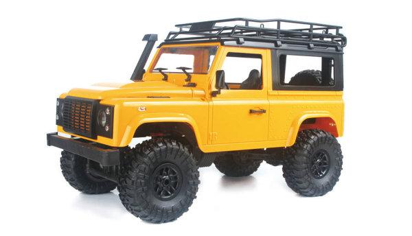 Geländewagen Crawler 4WD 1:12 Bausatz gelb