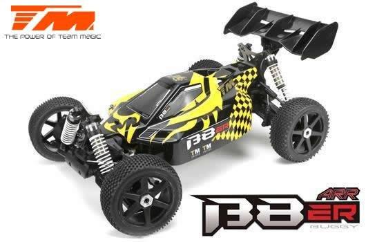 Auto - 1/8 Elektrisch - 4WD Buggy - ARR - Team Magic B8ER Gelb/Schwarz ohne Elektronik / TM560011B-ARR