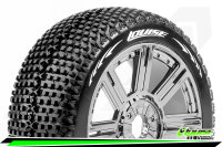 Louise RC - B-TURBO - 1-8 Buggy Tire Set - Mounted - Soft...