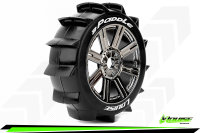 Louise RC - B-PADDLE - 1-8 Buggy Tire Set - Mounted -...