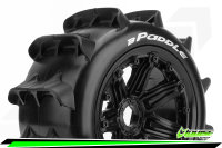 Louise RC - B-PADDLE -  1-5 Buggy Tire Set - Mounted -...