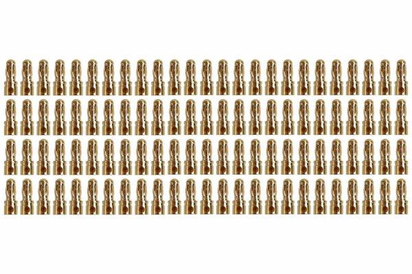Goldkontakt Ø3,5mm 100 Stecker  Yuki AM-604-100M