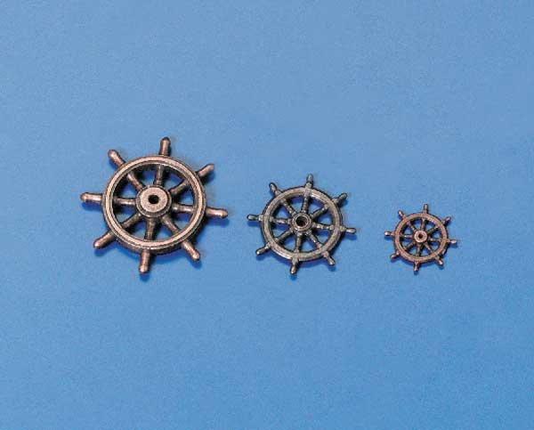 Ruderrad Metall brüniert 30 mm