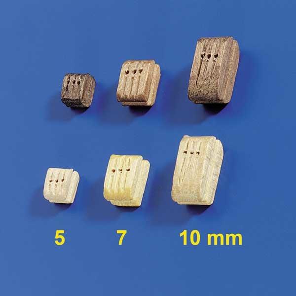 Dreifachblöcke 7mm hell (10Stk)