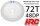 HRC74872B4 Hauptzahnrad - 48DP - Low Friction Gefräst Delrin - Associated Off Road Slipper - 72Z / HRC74872B4