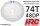 HRC74874B4 Hauptzahnrad - 48DP - Low Friction Gefräst Delrin - Associated Off Road Slipper - 74Z / HRC74874B4