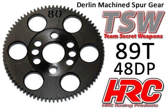 Hauptzahnrad - 48DP - Low Friction Gefräst Delrin - TSW Pro Racing -  89Z / HRC74889T