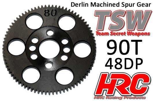 Hauptzahnrad - 48DP - Low Friction Gefräst Delrin - TSW Pro Racing -  90Z / HRC74890T