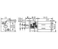 Micro Pile Getriebemotor 150:1 6V