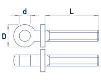 Augenschraube M2,5x14mm (10 Stk.)