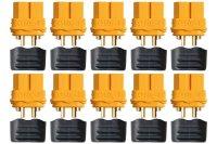 Goldkontakt XT60L 10 Buchsen |Yuki AM-629-10F
