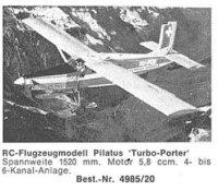 Bauplan PILATUS TURBO 1520mm Spannweite